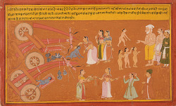 radhikayai:   India, Rajasthan, Mewar, UdaipurKrishna Breaks the Cart, Folio from a Bhagavata Purana (Ancient Stories of the Lord), circa 1725