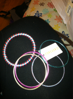 Just got these thread bangles from forever 21