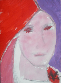 """Girl with Red Scarf"" Gloria Vanderbilt, 2012"