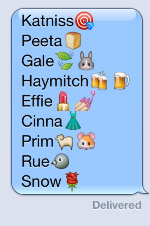 Hunger Games characters on iPhone