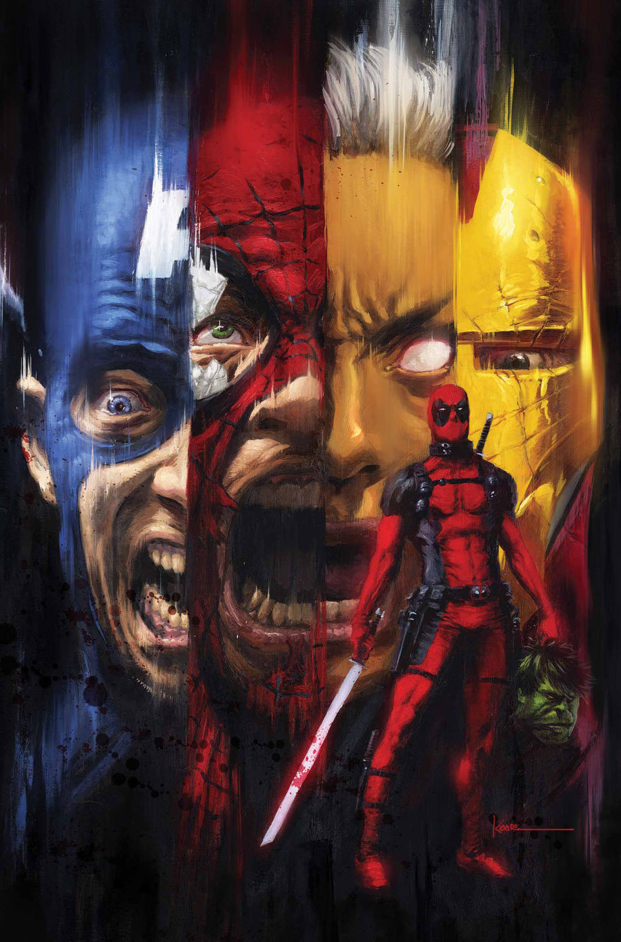 geekpride:  Deadpool Kills the Marvel Universe #1 Cover by Kaare Andrews