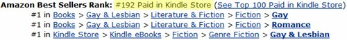 Amazon sales ranking for Armed & Dangerous, as of 2:15 pm, May 19, 2012. I don't usually follow the sales rankings, but… I don't care. This one deserves to be followed!