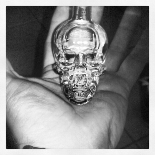 I dont like vodka much but dan aykroyd did it right #vodka #crystalhead #skull (Taken with instagram)