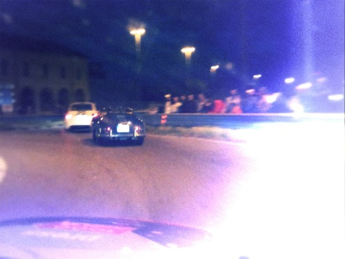 Rushing through the night following a Porsche 356 on vintage topspeeds at &;90 mph. Hundreds of people are watching, listening and enjoying the Mille Miglia spirit at roundabouts on our way to Cremona. Stay updated, we'll be in Brescia tonight. Michael