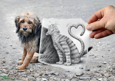 Photo and drawing by Ben Heine