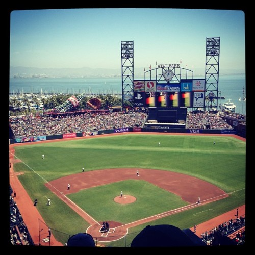 Go A's! (Taken with Instagram at AT&T Park)