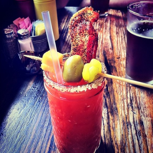 There is bacon in my bloody Mary. Life is perfect right now.  (Taken with instagram)