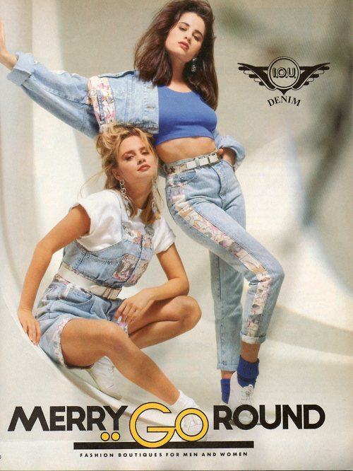 retrogasm:  Who remembers Merry-Go-Round stores?  My mom modeled for Merry-Go-Round for a minute.. Back in the 80's!
