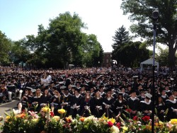 Graduation day at Georgetown. The view of Healy lawn. Congrats class of 2012.
