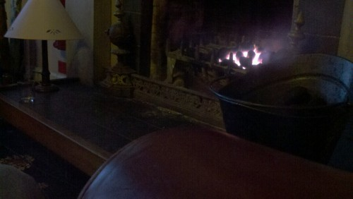 Wood fire in a real fireplace. One block away from Edinburgh Castle. Leather chairs that engulf the sit-ee (me) up to the armpits. Cobblestone streets. The best accents in the world.  I leave in a matter of days. Whoever chooses to visit this wonderful city, be nicer to her than I will be. Don't ever leave her.