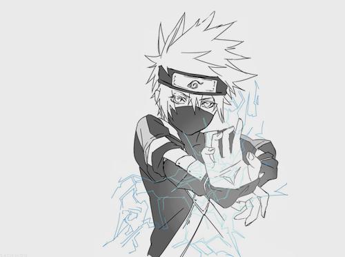Black And White Naruto