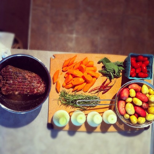 It's All About Preparation: 2nights Dinner from the Market: Roasted Lamb with Potatoes & Veggies (Taken with instagram)