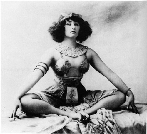 fuckyeahhistorycrushes:  Ah, Colette. One of the most influential French authors of her time, she wrote about (and acted out) sexuality in a time that was tres taboo. After the divorce of her first husband, she found notoriety as a music hall dancer, where she performed some very suggestive dances with her lover, the Marquise de Belbeuf, nearly causing a riot. After she married her second husband, she started a very publicized and scandalous affair with her husband's son from a previous marriage, which eventually caused the end of that marriage. Her third and final husband was Maurice Goudeket, a Jewish man whom she financially supported and hid during the Nazi occupation in Paris. After the war, she wrote her most famous book, Gigi, in 1945, which became a hit movie in 1949.