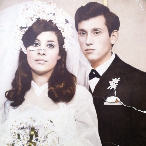 chestertheobesebunny:  My grandparents back in the day. (Taken with instagram)