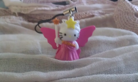 Hello Kitty Charm Pink Wings Ball Gown Brown Star Staff
