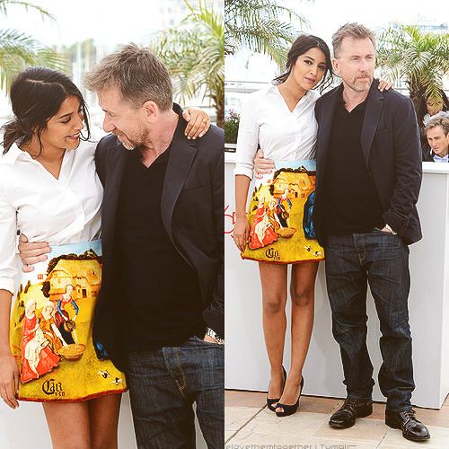 welovethemtogether:  Leila Bekhti and Tim Roth at the Un Certain Regard photocall during the 65th Annual Cannes Film Festival in Cannes, France on May 19, 2012