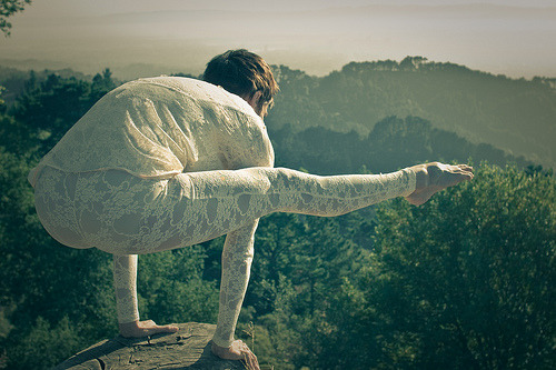 mayurasana:  Yoga with Nature (by cybilafresnidopatz)