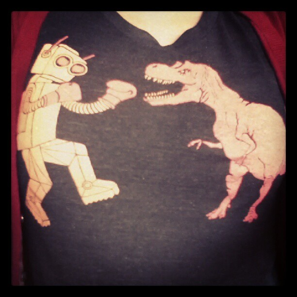 Today's T-shirt. David said Mr. Robot has an unfair advantage. (Taken with instagram)
