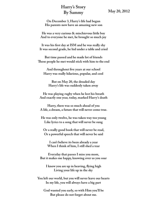view-from-up-here:  view-from-up-here:  My Poem for Harry. RIP Harry December 3, 1998- May 20, 2011  2 YEARS- I miss you more than ever. love you harry!