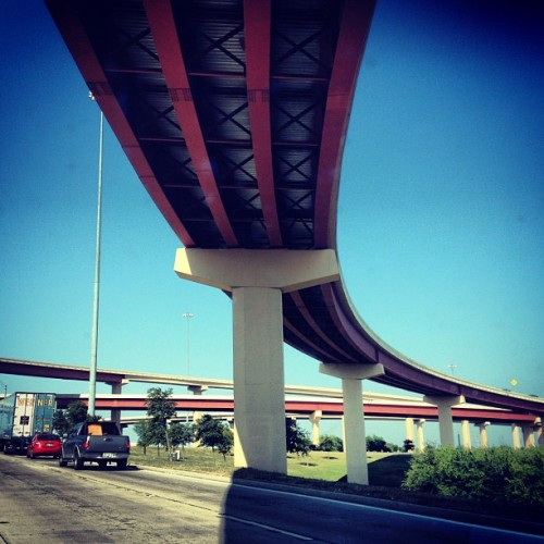 Freeways in the sky #texas #giddyup  (Taken with instagram)