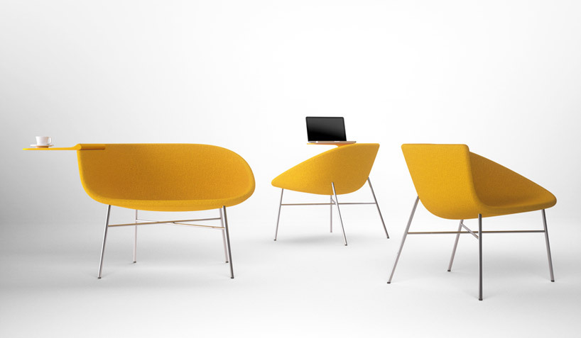 feiz design: moment lounge chair for offecct