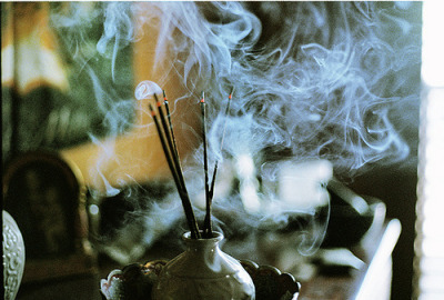 Love incense. Ones that smell like campfires and marshmellows.
