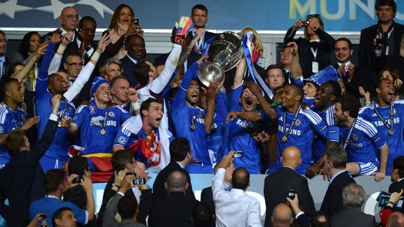 Chelsea FC. Champions League winners for the 2011/12 season.