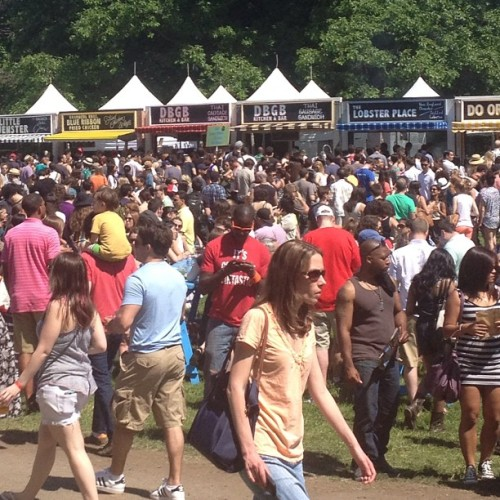 The scene at GoogaMooga was the definition of shitshow. (Taken with instagram)