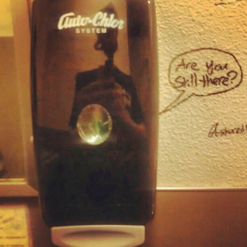Soap despinser at afk lol (Taken with instagram)