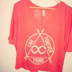 Live Forever Young Loose Coral V-Necks are almost sold out again! www.shopjawbreaking.com