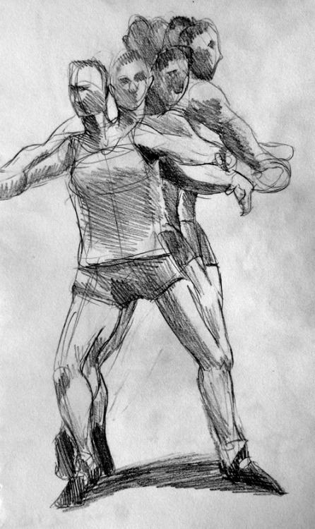 Study of a discus thrower in motion. Got too bored before I was able to key in more details.