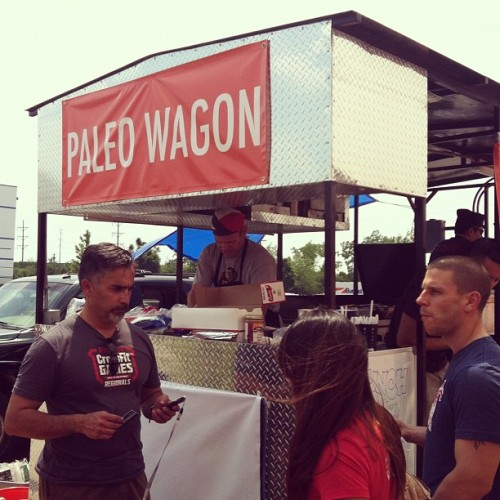 brandigayle:  Paleo Wagon at CrossFit Regionals. #paleo #crossfit #crossfitchicago #healthy #food (Taken with instagram)