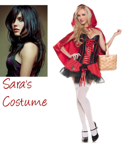 Sara's Costume by damonlover on polyvore.comSexy Riding Hood Costume, Riding Hood Halloween Costume, Little Red…, $64