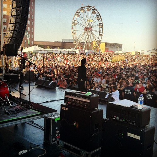 Big circle pit for @anti_flag. #bamboozle2012  (Taken with Instagram at The Bamboozle Festival 2012)