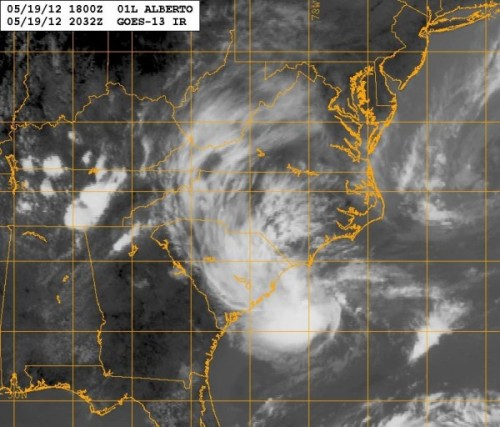 Tropical Storm Alberto forms off coast of South Carolina. There's a 10% chance he'll turn into a pumpkin, er, a hurricane. Houston Chronicle More from NOAA