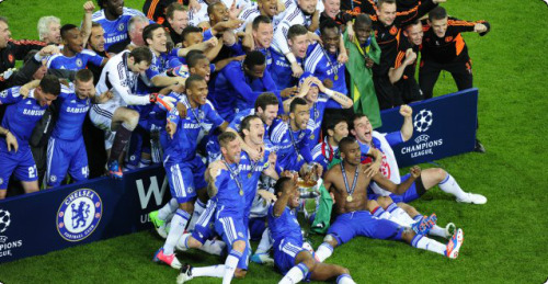 How Do You Spell Champions ? C.H.E.L.S.E.A. CHELSEA FC, EUROPEAN CHAMPIONS 2012 ! They did it ! Thanks Mister Didier Drogba !
