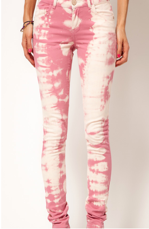 How cool are these bleached out pink skinnies?!