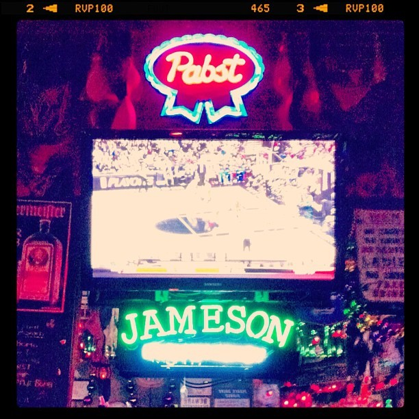 #pabstblueribbon on ice 🍺💈#funtimes with @edm826 & @rayrayy716 #jameson (Taken with Instagram at Bourbon Street)
