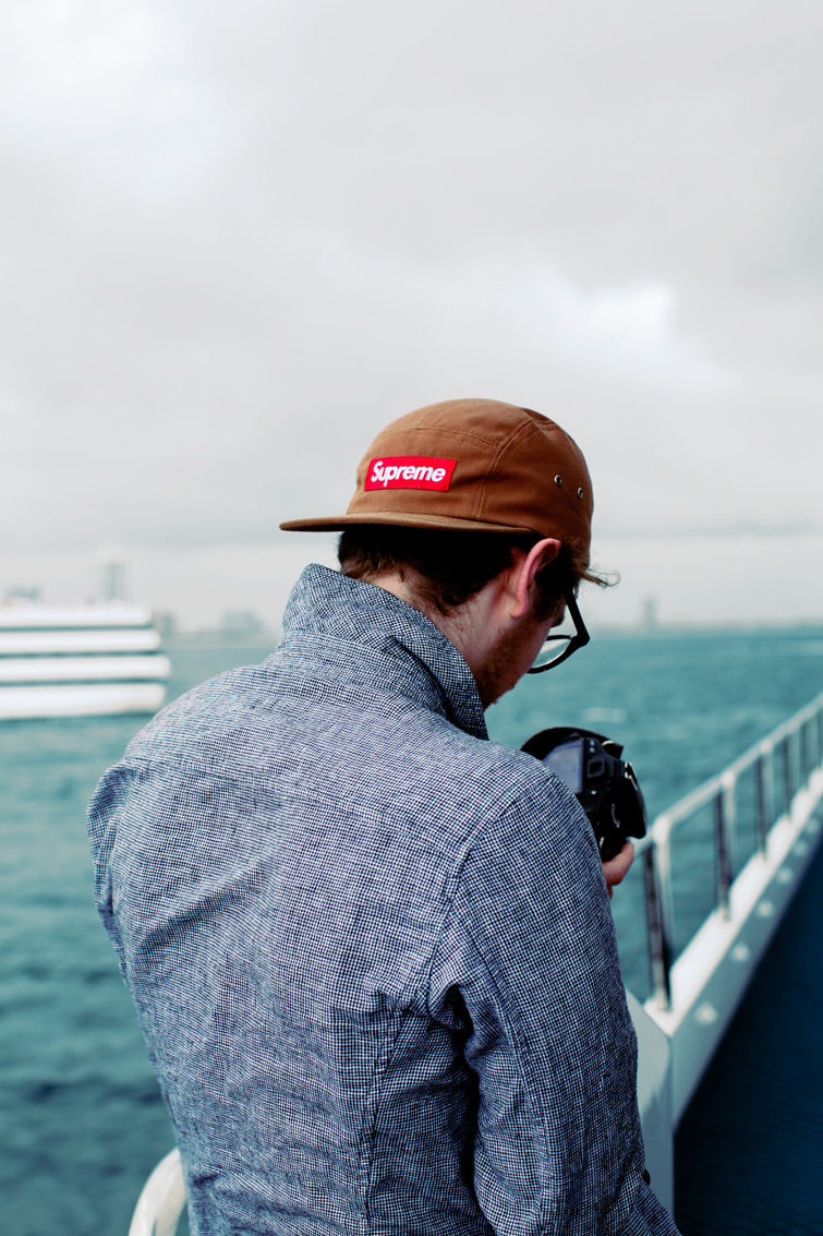Noah, taking photos on the boat for PUMA/Volvo Ocean Race.