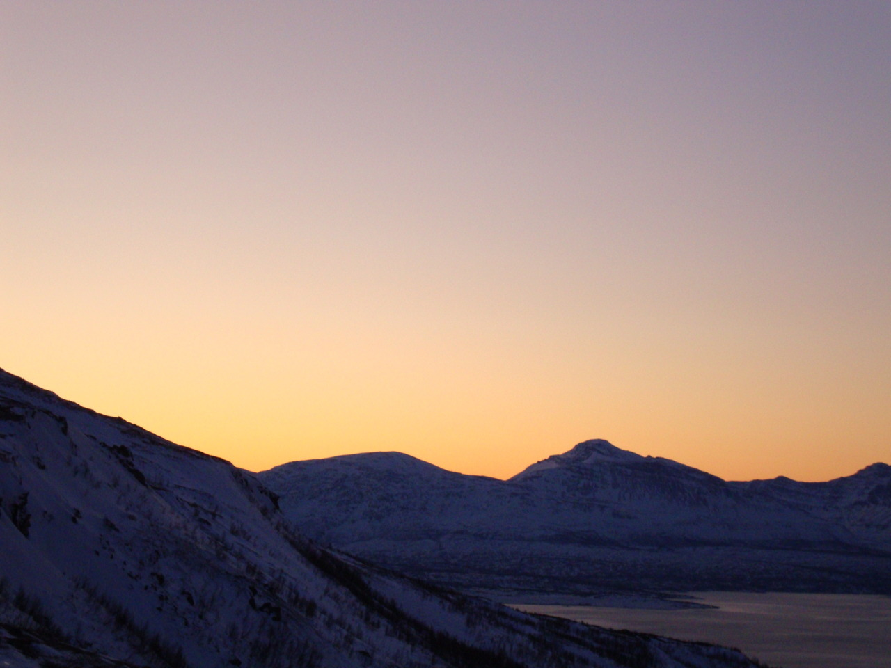 """Mørketid"", the dark time of year in Tromsø and surrounding area. During the winter months of the years, the sun does not rise above the horizon. Captured by me January 2012."