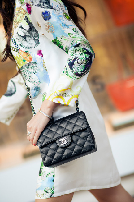 Dress :: Tibi, Bag :: Chanel (image: wendyslookbook)