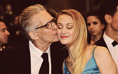 Sarah Gadon and David Cronenberg at 'Antiviral' premiere