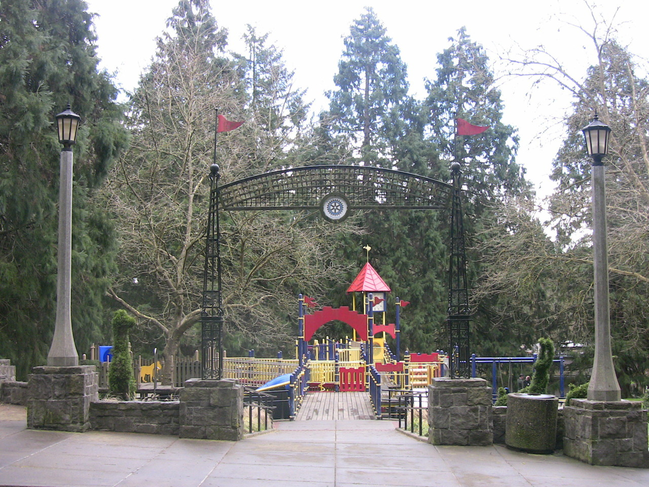 The Rose Garden Children's Park, inside Washington Park.