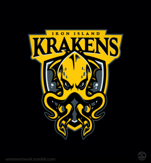 "Go Krakens!  One of the toughest teams in the league! They lost the title to the Dire Wolves a few seasons back but once they return to the ""old ways"" they'll be no stopping them!Support the team!Behance   •  Twitter   •   Facebook   •  Flickr   •  Tumblr"