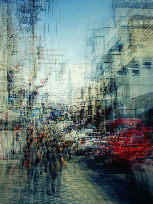 ryandonato: Multiple exposure photographs, Stephanie Jung