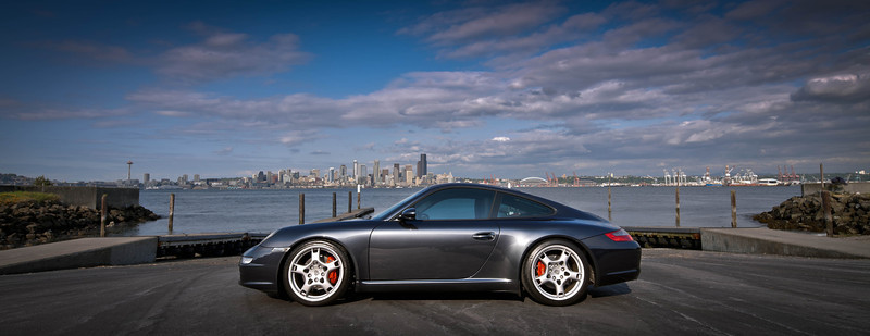 Porsche on Alki BeachAnother shot of my dad's Porsche at Alki