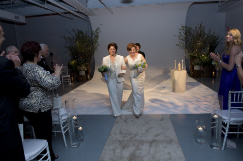 Christine Quinn and Kim Catullo married. Photo credit to William Alatriste.