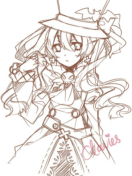 claviee:  Sketch of Dolce from Rune Factory 4 Been following the updates for a while. ^q^ I want to marry to character concept artist for these game seriously