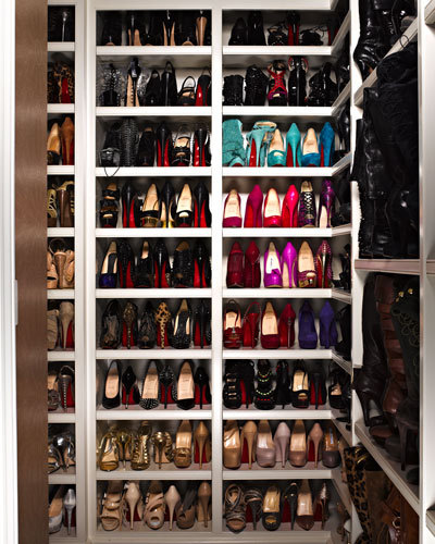 Khloe Kardashian's shoe collection.