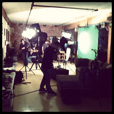 blurry photo of yesterday's shoot/dinner… (Taken with instagram)